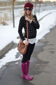 modne kalosze fioletowe