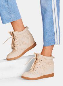 Beżowe sneakersy Makoto